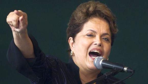 Dilma Rousseff durante una actividad en Niteroi. (AP)