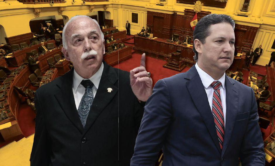 """Carlos Tubino acusó a Daniel Salaverry de adoptar """"posiciones dictatoriales"""". (Composición Perú21)"""