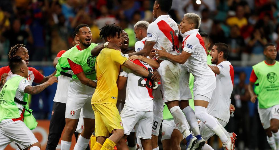 Perú ganó por penales a Uruguay y enfrentará a Chile en semifinales de la Copa América. (Foto: EFE)