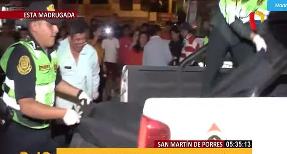 Venezolana murió luego de ser atropellada en San Martín de Porres. (Captura/Panamericana)