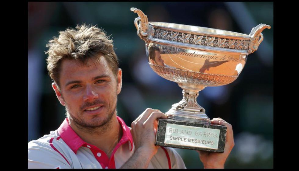 Es la segunda victoria en un grande del suizo Wawrinka, tras la que consiguió en el Abierto de Australia de 2014. (EFE)