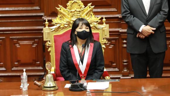 Mirtha Vásquez, presidenta del Congreso, consideró que el Ejecutivo debe escuchar las demandas de la población. (Foto: Congreso)
