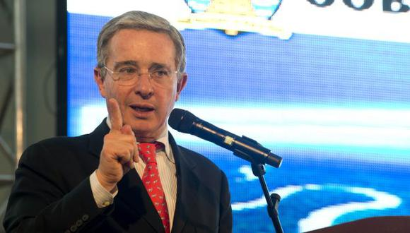 Álvaro Uribe reconoció ayuda de Estados Unidos. (AFP)