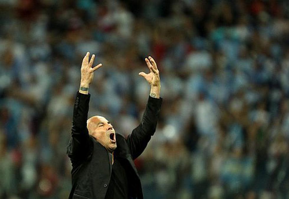 Se rumorea que Jorge Sampaoli seguirá dirigiendo a la 'Albiceleste' hasta el final de la Copa del Mundo. (GETTY)