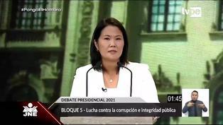 Debate presidencial: El plan de Keiko Fujimori para luchar contra la corrupción e integridad pública