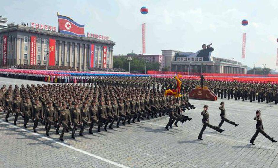 Desfile militar en Corea del Norte. (AFP/Referencial)