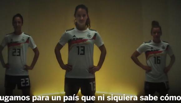 Mira el video de la selección alemana de fútbol femenino. (Captura y video: Commerzbank)