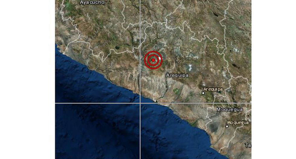 Un sismo de magnitud 4,0 se registró en Arequipa la noche de este viernes a las 18:55 horas, según IGP. (Foto: IGP)