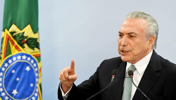 La detención de Temer se vincula a los supuestos sobornos pagados por Eletronuclear para el partido del Movimiento Democrático Brasileño, que lideraba el ex mandatario.(Foto: AFP)