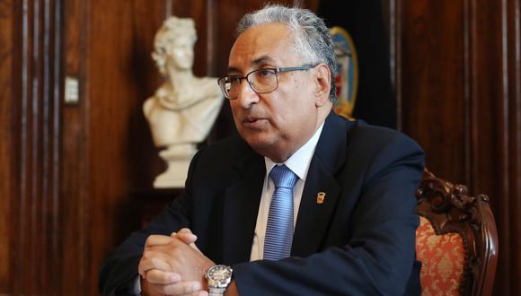José Luis Lecaros participó en forma virtual en la sesión de la Comisión de Justicia del Congreso. (Foto: GEC)