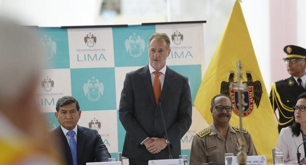 Alcalde Jorge Muñoz presidió el Primer Consejo Descentralizado de Seguridad Ciudadana. (Anthony Niño de Guzmán/GEC)