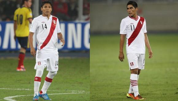 Raúl Ruidíaz y Irven Ávila, quienes no llegan al 1.70 m.,  conforman la dupla ofensiva ante Venezuela. (USI)