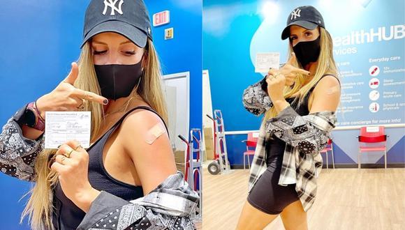 Alejandra Baigorria se vacunó contra la COVID-19 en Florida, Estados Unidos. (Foto: @alejandrabaigorria).