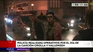 Halloween: Policía multará con 300 soles a participantes de fiestas clandestinas