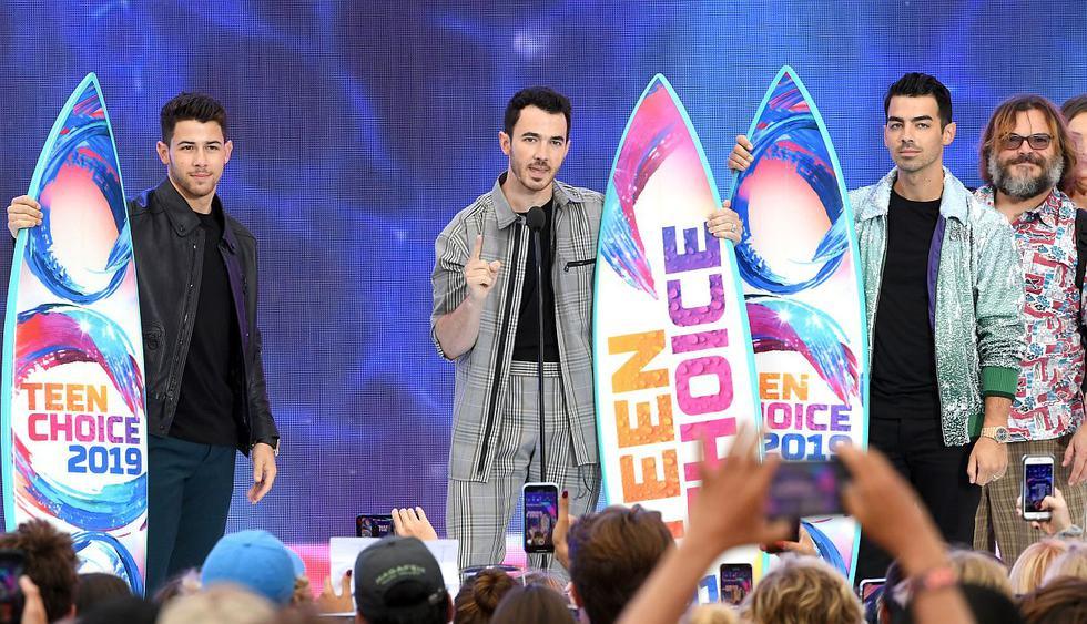 Los Jonas Brothers se llevaron tres premios Teen Choice Awards. (Foto: AFP)