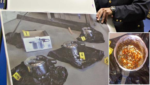 Esas son las ollas colocadas. Son parecidas a las utilizadas en Boston. (Reuters/AP)