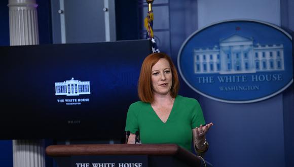 """La portavoz de la Casa Blanca, Jen Psaki, dijo que las personas en proceso de deportación, o que estén siendo procesadas, """"tendrán la oportunidad de presentar sus casos ante un juez de inmigración"""". (Foto:  Brendan SMIALOWSKI / AFP)"""