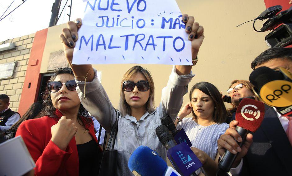 Impotencia. Arlette Contreras guardó silencio y solo se expresó a través de un mensaje escrito. (Jéssica Vicente)