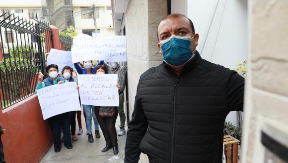 Alcalde de San Luis rechazó denuncia por presuntas compras irregulares durante emergencia por COVID-19. (Foto: Juan Ponce Valenzuela/GEC)