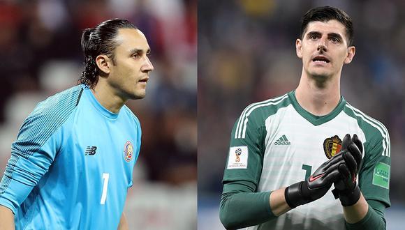 Keylor Navas y Thibaut Courtois pelearán por el arco del Real Madrid. (Foto: AFP)