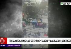 Barras bravas se enfrentaron en las calles de San Miguel y causaron destrozos