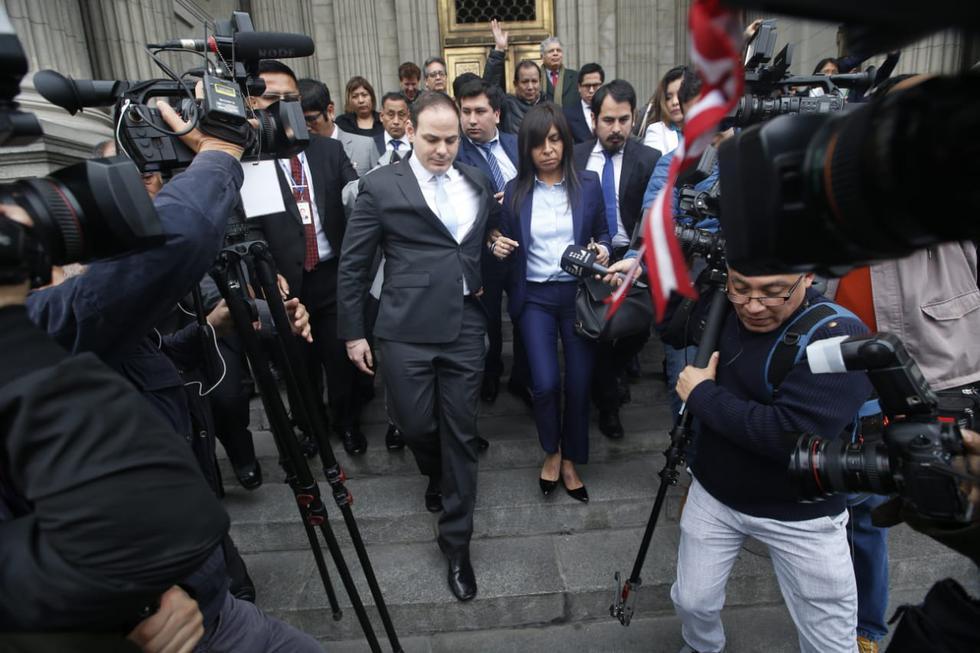 Mark Vito sale del Poder Judicial luego que la defensa de Keiko Fujimori expuso sus argumentos para solicitar la reversión de la prisión preventiva.
