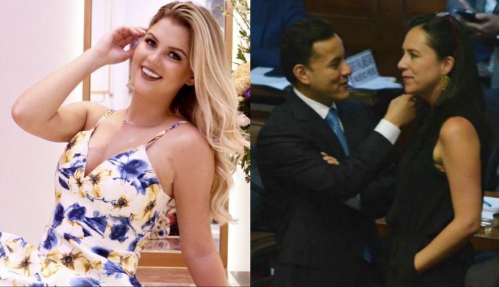 Brunella Horna espera no volver a ver su novio, el congresista Richard Acuña, en una escena similar con Marisa Glave. (Composición)