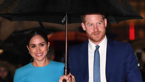 El príncipe Enrique y Meghan de Sussex. (Foto: AFP)