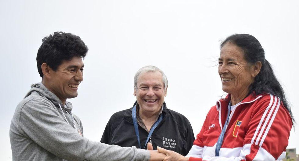 Marita Letts Colmenares ofreció disculpas a José Luis Chauca Ascue. (Foto: Federación Peruana de Atletismo)