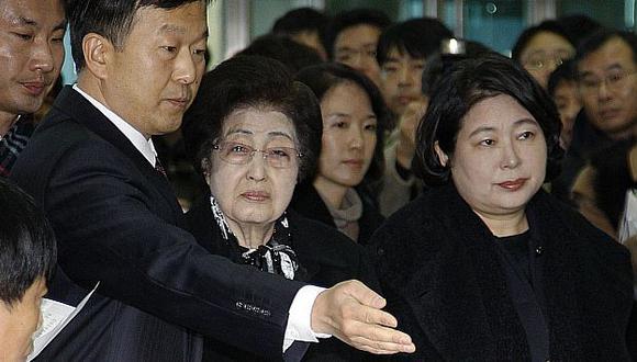 Las representantes surcoreanas fueron recibidas en Corea del Norte. (AP)