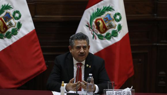 """El congresista Manuel Merino señaló que existe una """"fuerte presión"""" sobre Edgar Alarcón, ante el pedido de que deje de liderar la Comisión de Fiscalización. (Foto: GEC)"""
