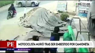 Motociclista fallece tras impactar con camioneta en Canta