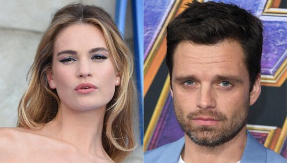 """Lily James y Sebastian Stan serán los protagonistas de """"""""Pam & Tommy"""". (Foto: AFP)"""