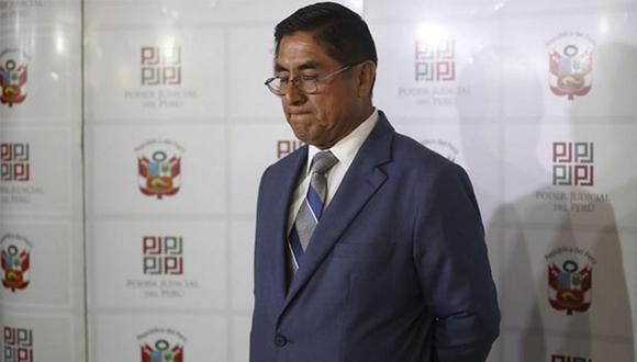 César Hinostroza fue suspendido como juez supremo y afronta una denuncia constitucional. (Foto: USI)