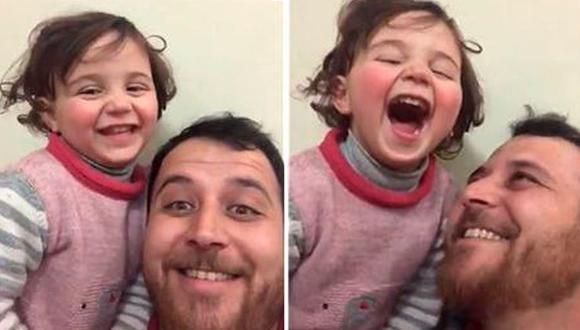 La pequeña pudo salir de su país con ayuda de su padre. (Foto: Captura de video)