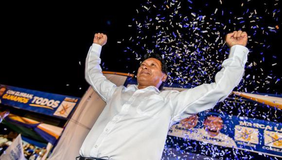 EL 'GOBER'. Ochoa realizó una campaña electoral muy costosa pero sustentó en la ONPE S/83 mil.