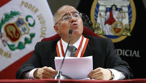 Polémica. San Martín presidió la Sala que condenó a Fujimori. (Luis Gonzales)