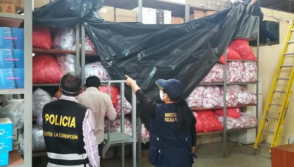 Incautan mascarillas del Gobierno Regional de Piura.