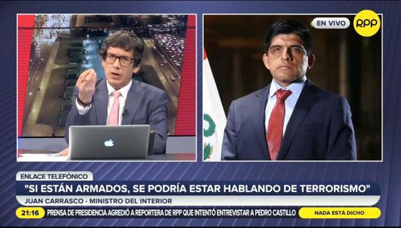 Juan Carrasco en declaraciones a RPP. (Foto: captura   RPPR)