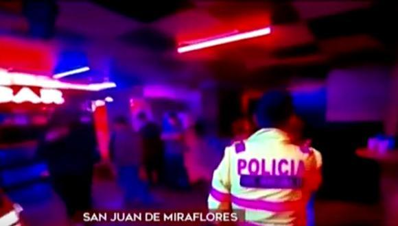 Intervención en discoteca ocurrió en pleno toque de queda. (Captura: América Noticias)