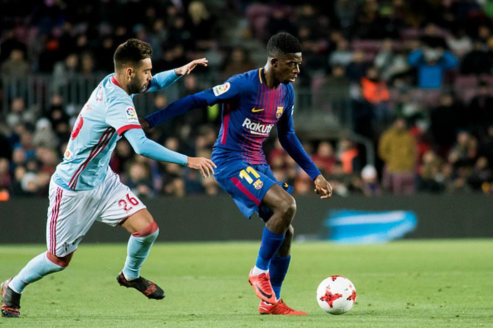 Barcelona lidera la clasificación de la Liga Española a once puntos de diferencia sobre su más cercano perseguidor: Atético de Madrid. Celta marcha noveno en la tabla. (GETTY IMAGES)