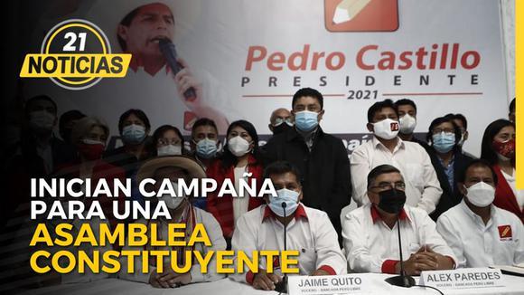 Perú Libre inicio campaña para una Asamblea Constituyente.