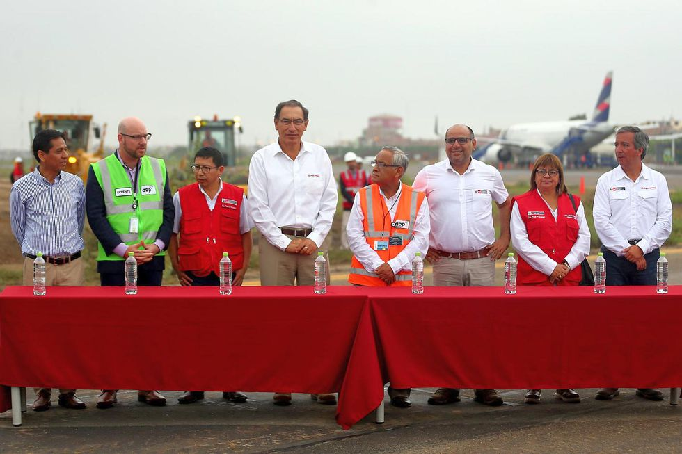 El presidente Vizcarra participó de una ceremonia que dio inicio a las obras de modernización del aeropuerto de Chiclayo. (Foto: Andina)