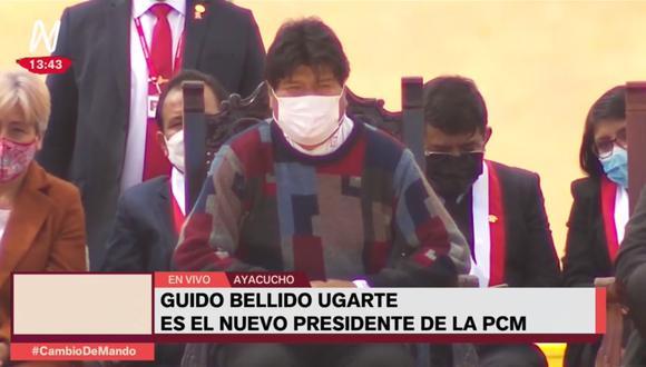 Evo Morales fue captado realizando su popular al ritmo de una marinera ayacuchana. (Captura / Canal N)