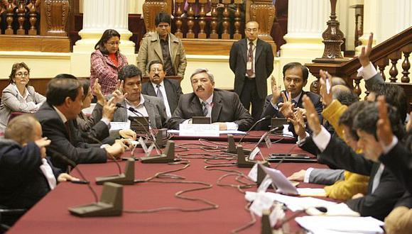 Dictamen de este grupo rechaza dos observaciones del Poder Ejecutivo. (Luis Gonzales)