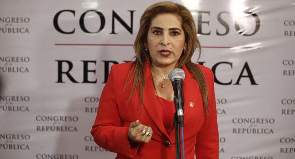 La congresista Maritza García (Fuerza Popular) es la presidenta de la Comisión de Mujer. (Perú21)