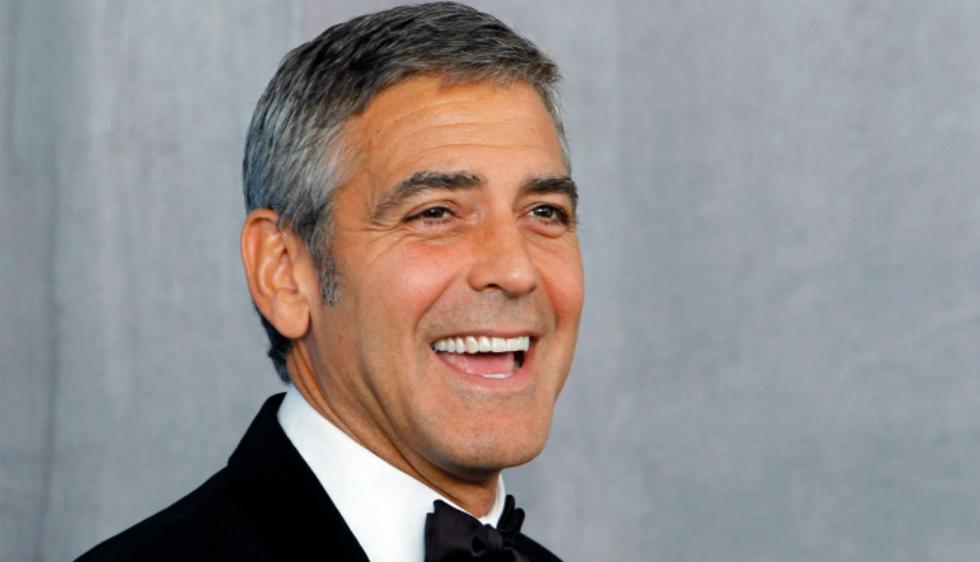1. George Clooney: Ocupa el primer puesto con 91,86% de coincidencia con la proporción áurea (Reuters)