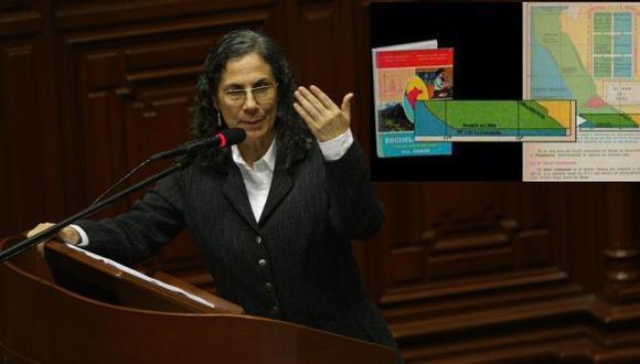 Ministra Salas y un extracto de Escuela Nueva. (USI/Difusión)