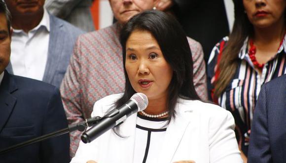 Keiko Fujimori celebró el octavo aniversario de Fuerza Popular. (Perú21)