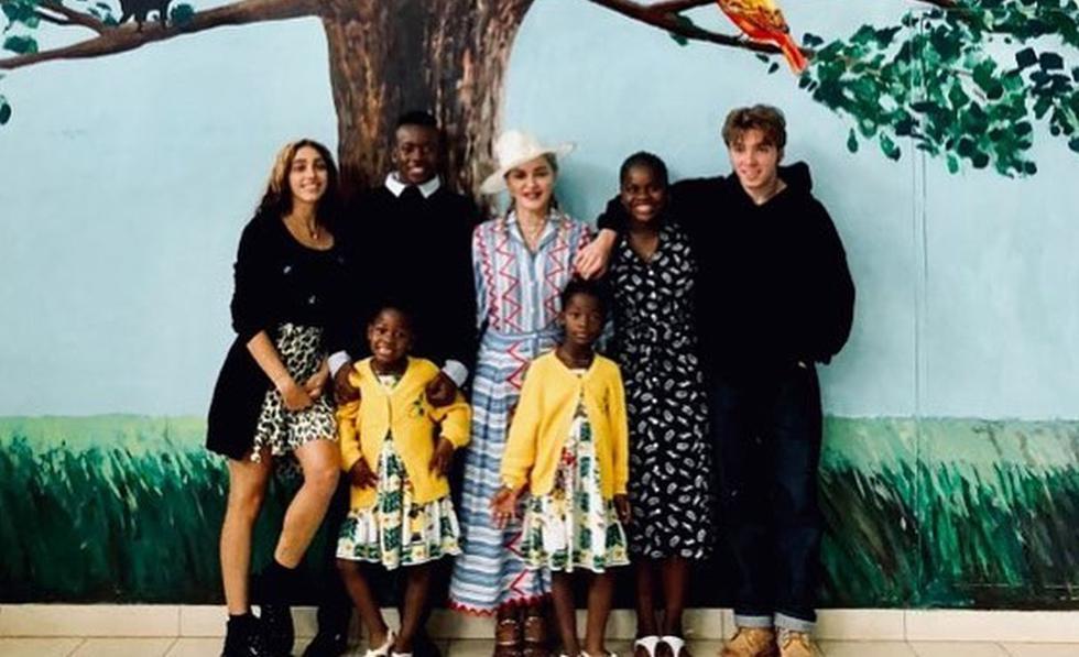 La cantante realizó el viaje junto a sus seis hijos. (Créditos: Instagram)